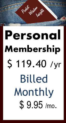 Pocket Wisdom Insights Annual Membership (Billed Monthly)